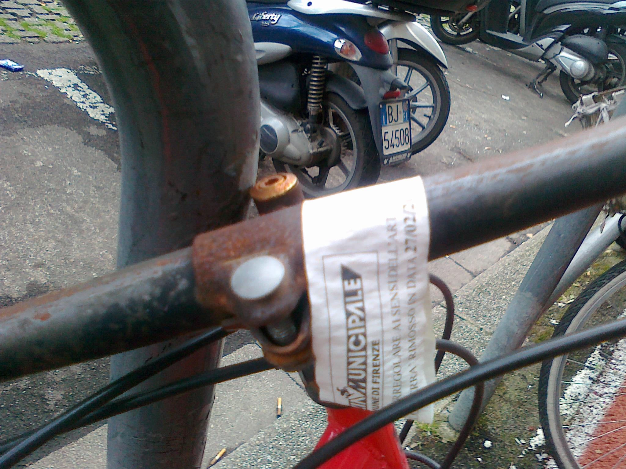 avviso rimozione bici v. Mille 27Feb15