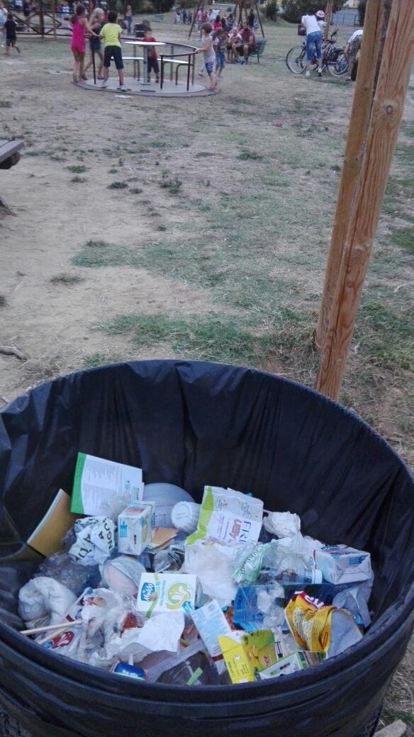 cestone rifiuti indifferenz. parco Anconella