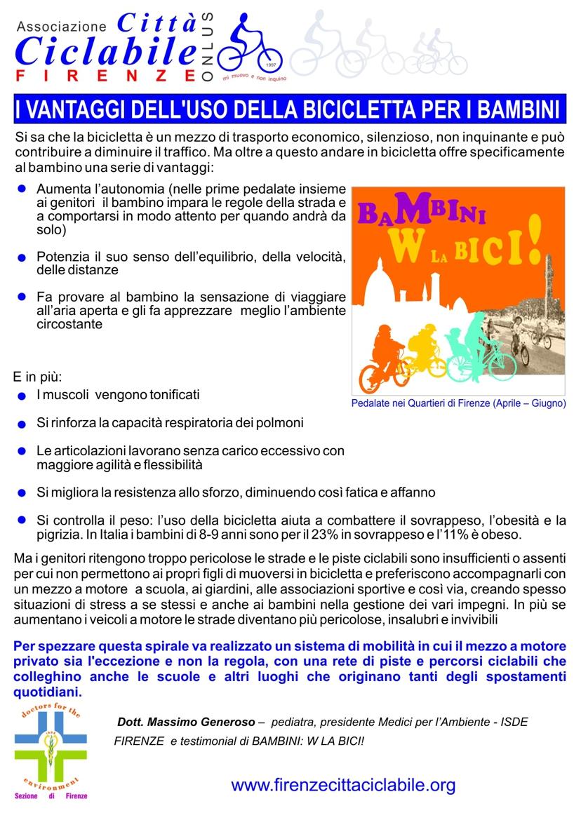 Dott. Generoso - i vantaggi dell'uso della bicicletta per i bambini