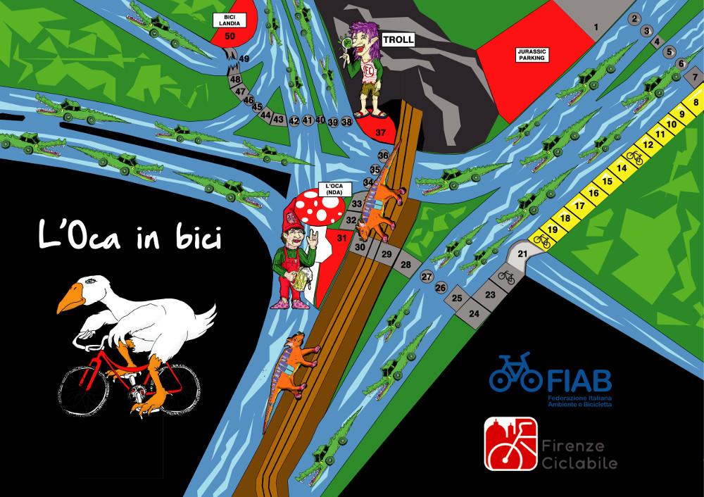 Tabellone de L'Oca in bici